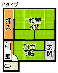 オレンジハウスII[1階]の間取り