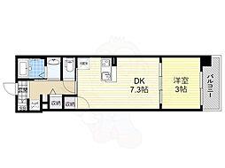 ファーストフィオーレ梅田イースト 8階1DKの間取り