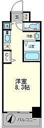 ララプレイス大阪ウエストプライム[14階]の間取り