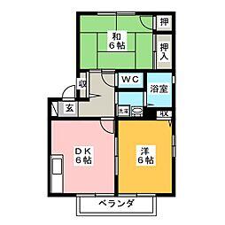 グランドールAKI A[2階]の間取り