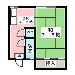 ハイツ京都[2階]の間取り