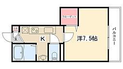玉川学園エイチ・エス[103号室]の間取り
