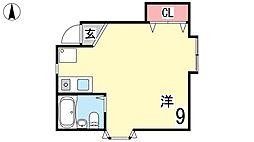 御影シーサイドクラブ1[2階]の間取り