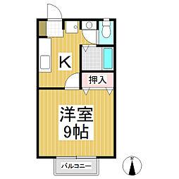 シャトレK[2階]の間取り