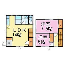 [テラスハウス] 愛知県常滑市新田町3丁目 の賃貸【愛知県 / 常滑市】の間取り