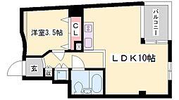 アクス加古川[3階]の間取り