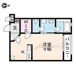 THE GARNET SUITE RESIDENCE龍谷大前 2階1Kの間取り