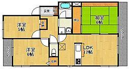 サンサーラ若草3[2階]の間取り