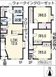 [タウンハウス] 愛知県名古屋市天白区梅が丘3丁目 の賃貸【/】の間取り