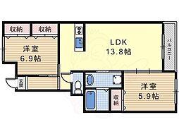 上ノ太子駅 6.8万円