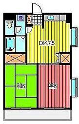 第二ドリームハイツ[1階]の間取り
