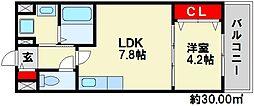 エバープレイス七隈[2階]の間取り