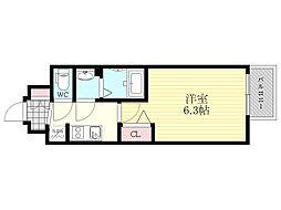 プレサンス新大阪ネオス 4階1Kの間取り