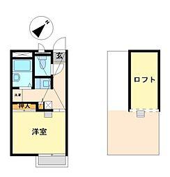 兵庫県相生市那波野3丁目の賃貸アパートの間取り