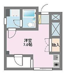 神奈川県横浜市鶴見区上末吉4の賃貸マンションの間取り
