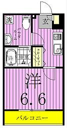 ルーモ松戸[203号室]の間取り