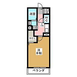 ガノス A棟[1階]の間取り
