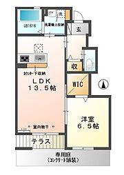 ガーデン・JIN[1階]の間取り