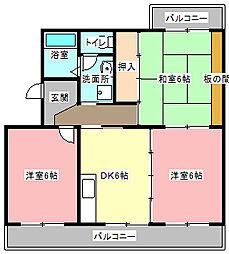 静岡県浜松市東区有玉台2丁目の賃貸マンションの間取り