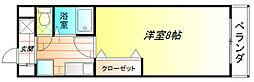 サニーコート太子 4階1Kの間取り