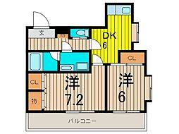 ライオンズマンション武蔵浦和参番館[3階]の間取り