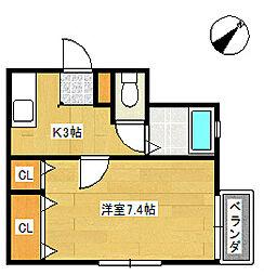 シーパレス七番館[2階]の間取り