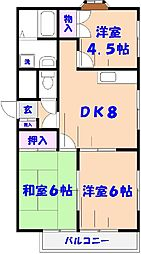 K2−FLAT[301号室]の間取り