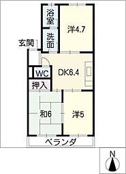 くまのマンション[1階]の間取り