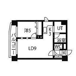 北海道札幌市中央区北六条西24丁目の賃貸マンションの間取り