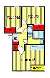 レジデンスK1[205号室]の間取り