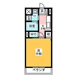 テージスII[1階]の間取り