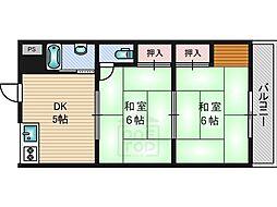橋本マンション[205号室]の間取り