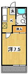 マンハイツI[1階]の間取り