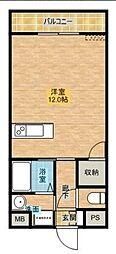 ソラーレ広島[503号室]の間取り