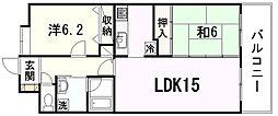 ネオライフ戸坂[4階]の間取り