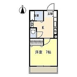 ロイヤルマンションヨコチ[3階]の間取り