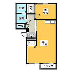 鹿子マンション[2階]の間取り