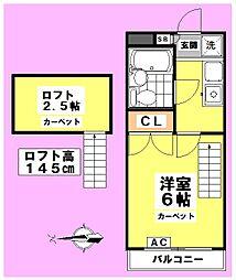 フラット東高円寺[201号室]の間取り