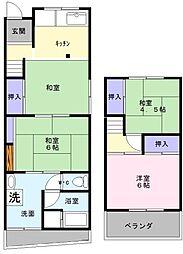[一戸建] 大阪府堺市西区鳳中町9丁 の賃貸【/】の間取り
