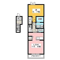 クイーン フルハウス[2階]の間取り