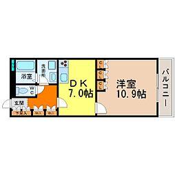 セイント橘[601号室]の間取り