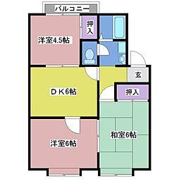 コーポアワジ王塚台[1階]の間取り