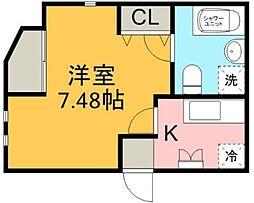 Aレガート神明町I[201号室]の間取り