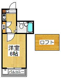 シネマ御陵[1階]の間取り