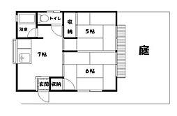 ムトウアパート[1階号室]の間取り