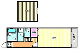 ハートフル21(ロフト付き)[4階]の間取り