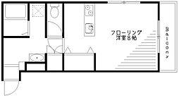 東京都杉並区宮前3丁目の賃貸マンションの間取り