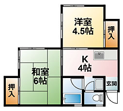 千葉県茂原市高師の賃貸アパートの間取り