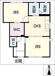 コンフォート吉新A棟[1階]の間取り