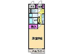愛媛県松山市萱町6丁目の賃貸マンションの間取り